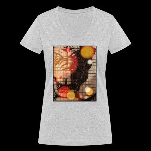 dragon - T-shirt ecologica da donna con scollo a V di Stanley & Stella