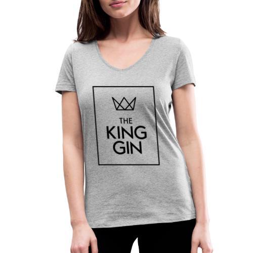 The King Gin Logo schwarz RGB Rahmen - Frauen Bio-T-Shirt mit V-Ausschnitt von Stanley & Stella