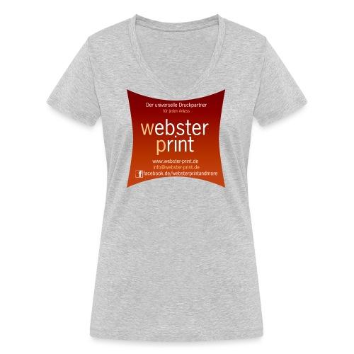 logo neu aussen universeller anlass tran - Frauen Bio-T-Shirt mit V-Ausschnitt von Stanley & Stella