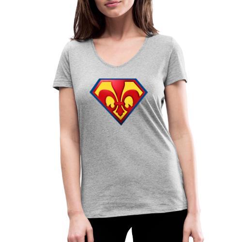 Fabulous Scout - Lilie im Wappen - Frauen Bio-T-Shirt mit V-Ausschnitt von Stanley & Stella