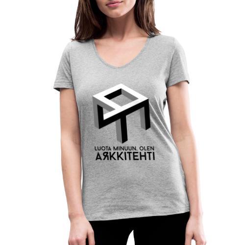 Luota minuun, olen arkkitehti - Stanley & Stellan naisten v-aukkoinen luomu-T-paita