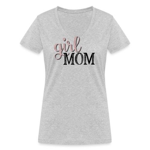 Schriftzug Girl Mom - Frauen Bio-T-Shirt mit V-Ausschnitt von Stanley & Stella