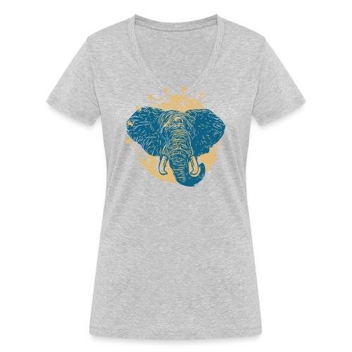 Respect elephant - T-shirt bio col V Stanley & Stella Femme