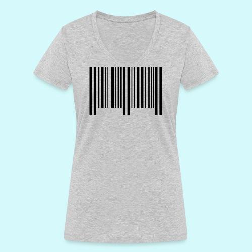 barcode - schwarz - Frauen Bio-T-Shirt mit V-Ausschnitt von Stanley & Stella