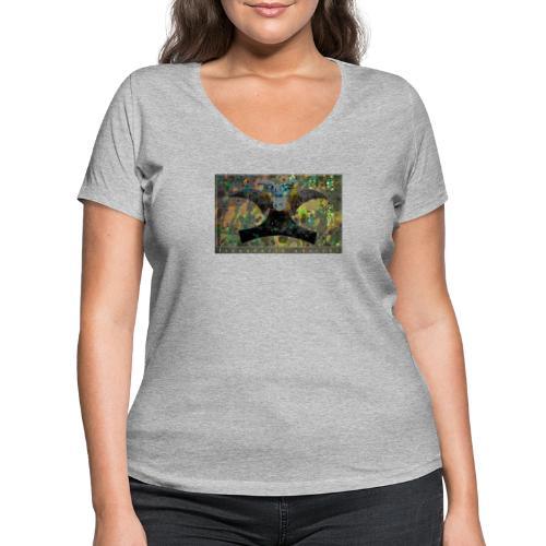 Blue Mojitos (jade) - Women's Organic V-Neck T-Shirt by Stanley & Stella