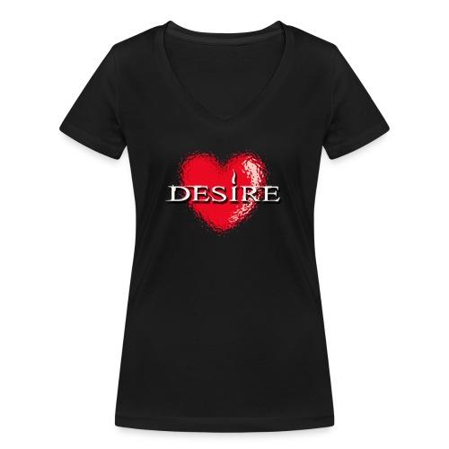 Desire Nightclub - Women's Organic V-Neck T-Shirt by Stanley & Stella