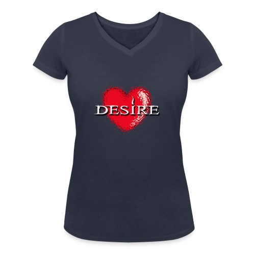 Desire Nightclub - Women's Organic V-Neck T-Shirt by Stanley & Stella
