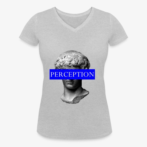 TETE GRECQ BLUE - PERCEPTION CLOTHING - T-shirt bio col V Stanley & Stella Femme