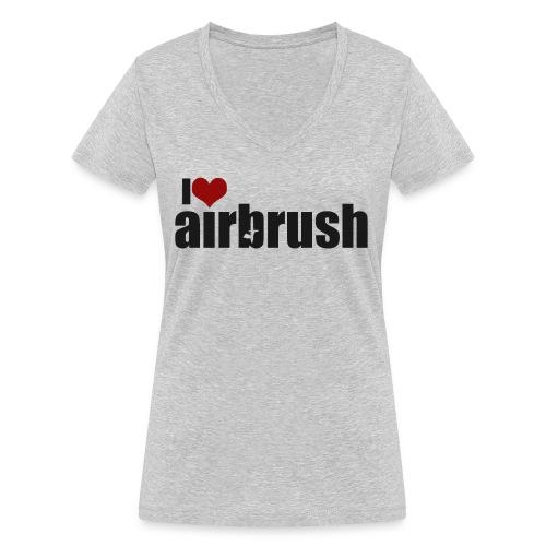 I Love airbrush - Frauen Bio-T-Shirt mit V-Ausschnitt von Stanley & Stella