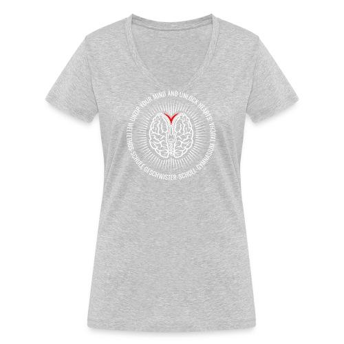 UNZIP YOUR MIND (light) - Frauen Bio-T-Shirt mit V-Ausschnitt von Stanley & Stella