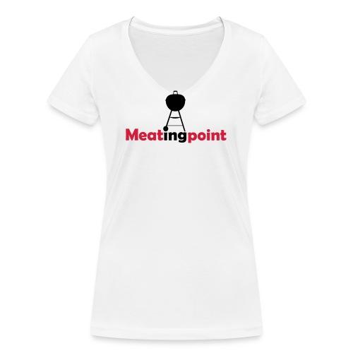 Meatingpoint Grill - Frauen Bio-T-Shirt mit V-Ausschnitt von Stanley & Stella