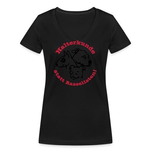 508 Halterkunde statt Rasselisten - Frauen Bio-T-Shirt mit V-Ausschnitt von Stanley & Stella