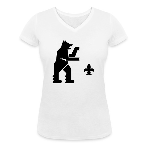 hemelogovektori - Stanley & Stellan naisten v-aukkoinen luomu-T-paita