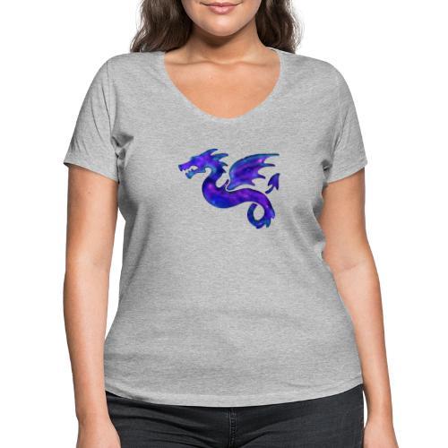 Drago - T-shirt ecologica da donna con scollo a V di Stanley & Stella