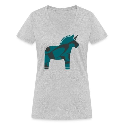 Swedish Unicorn - Frauen Bio-T-Shirt mit V-Ausschnitt von Stanley & Stella