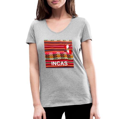 Telar inka Mapa del Peru - Frauen Bio-T-Shirt mit V-Ausschnitt von Stanley & Stella