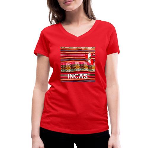 Telar inca Mapa del Peru - Women's Organic V-Neck T-Shirt by Stanley & Stella