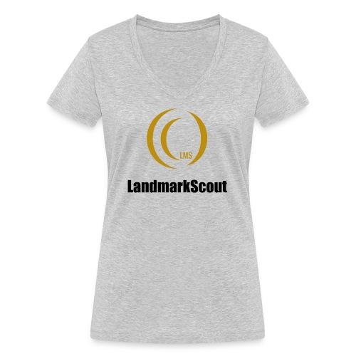 Tshirt Yellow Front logo 2013 png - Women's Organic V-Neck T-Shirt by Stanley & Stella