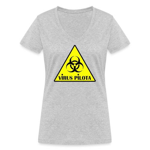 viruspelote png - T-shirt bio col V Stanley & Stella Femme