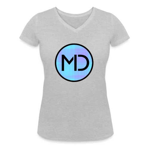 MD Blue Fibre Trans - Women's Organic V-Neck T-Shirt by Stanley & Stella
