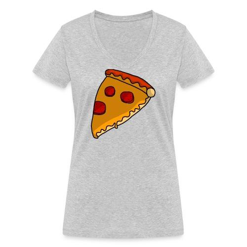 pizza - Økologisk Stanley & Stella T-shirt med V-udskæring til damer