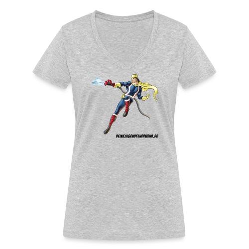 Captain Firefighter - Frauen Bio-T-Shirt mit V-Ausschnitt von Stanley & Stella