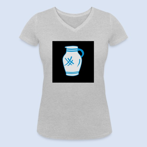 Mein Frankfurt Bembeltown - Frauen Bio-T-Shirt mit V-Ausschnitt von Stanley & Stella