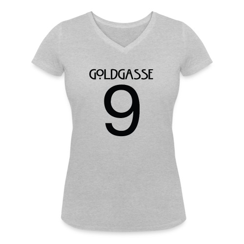 Goldgasse 9 - Back - Women's Organic V-Neck T-Shirt by Stanley & Stella