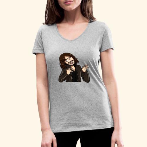LEATHERJACKETGUY - Women's Organic V-Neck T-Shirt by Stanley & Stella