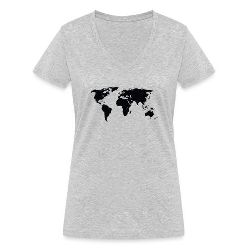 World - Økologisk Stanley & Stella T-shirt med V-udskæring til damer