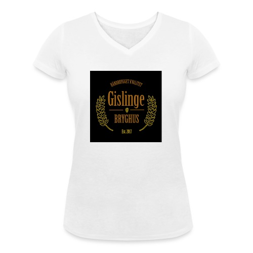 Sort logo 2017 - Økologisk Stanley & Stella T-shirt med V-udskæring til damer