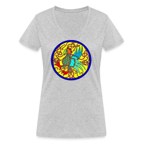 rapace celtico - T-shirt ecologica da donna con scollo a V di Stanley & Stella