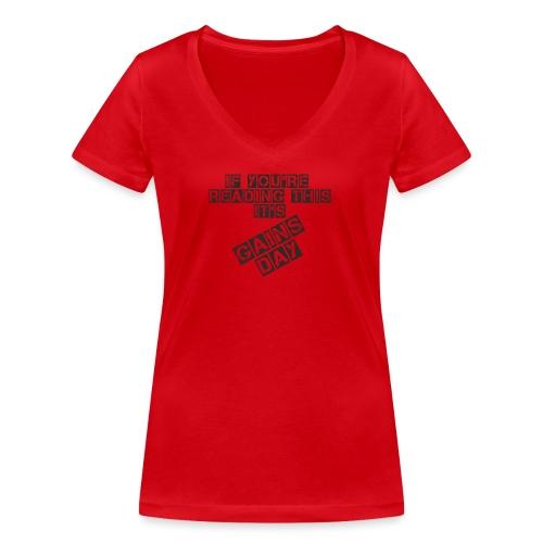 gainsday - Økologisk Stanley & Stella T-shirt med V-udskæring til damer