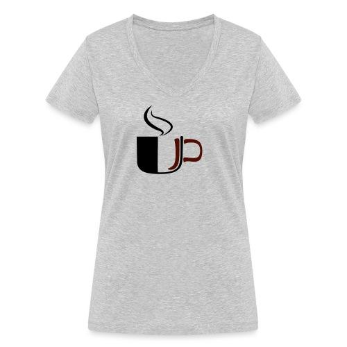JU Kahvikuppi logo - Stanley & Stellan naisten v-aukkoinen luomu-T-paita
