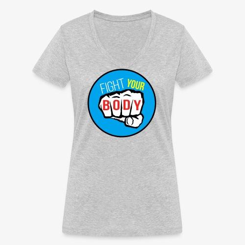 logo fyb bleu ciel - T-shirt bio col V Stanley & Stella Femme