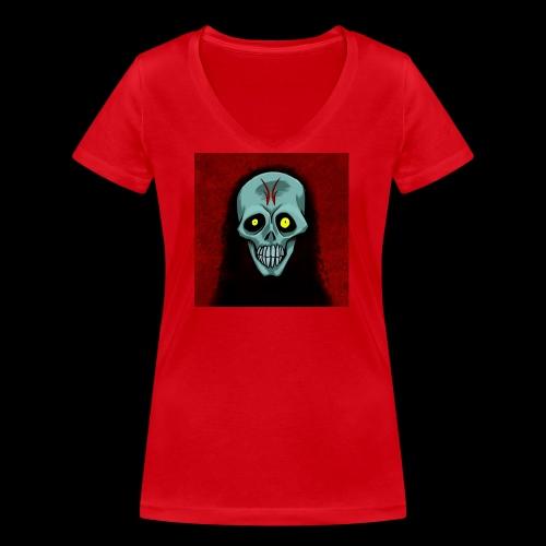 Ghost skull - Women's Organic V-Neck T-Shirt by Stanley & Stella