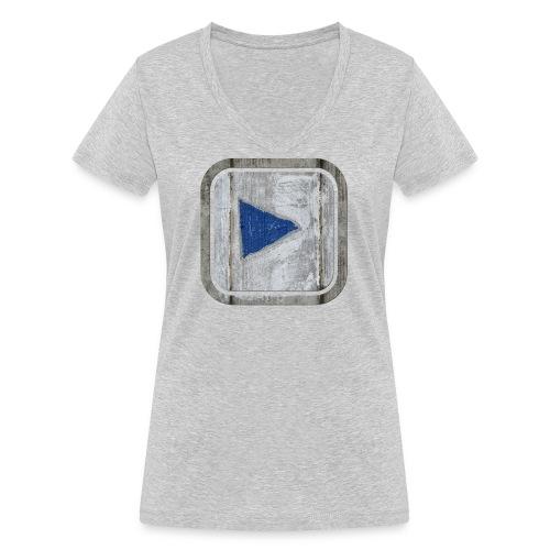 hier entlang ! - Frauen Bio-T-Shirt mit V-Ausschnitt von Stanley & Stella