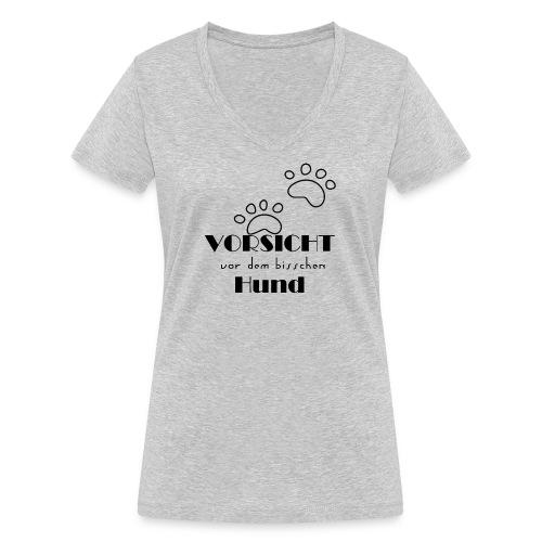bisschen Hund - Frauen Bio-T-Shirt mit V-Ausschnitt von Stanley & Stella
