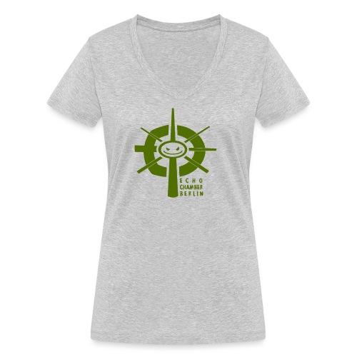 Echochamber Logo grün - Frauen Bio-T-Shirt mit V-Ausschnitt von Stanley & Stella