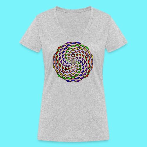 Mandala in rainbow colours - Women's Organic V-Neck T-Shirt by Stanley & Stella