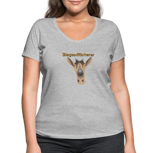 Ziegenflüsterer - Frauen Bio-T-Shirt mit V-Ausschnitt von Stanley & Stella
