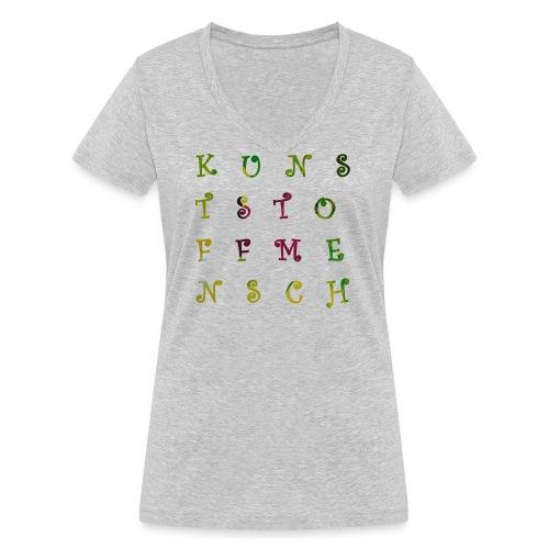 KunstStoffMensch #3 - Frauen Bio-T-Shirt mit V-Ausschnitt von Stanley & Stella