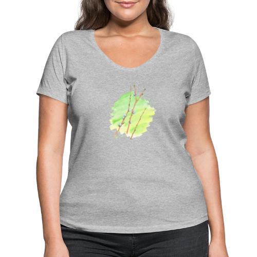 Weidenkätzchen - Frauen Bio-T-Shirt mit V-Ausschnitt von Stanley & Stella