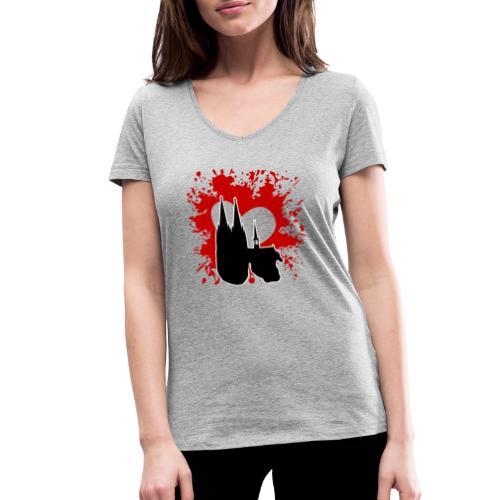 Koelle Love - Frauen Bio-T-Shirt mit V-Ausschnitt von Stanley & Stella