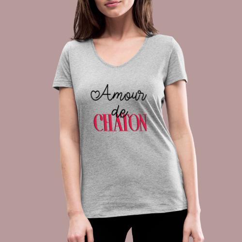 Amour de chaton - T-shirt bio col V Stanley & Stella Femme