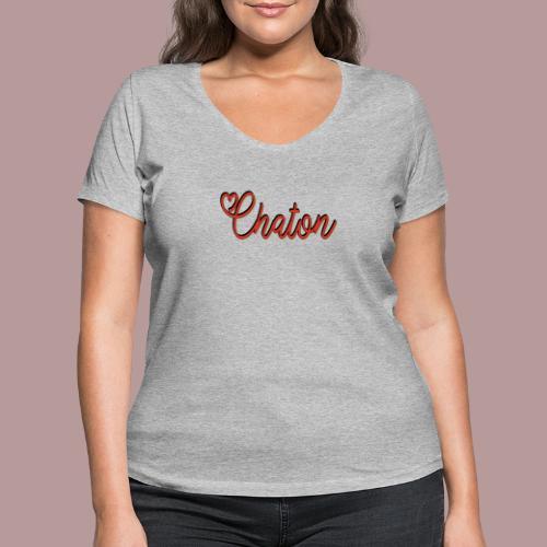 Chaton - T-shirt bio col V Stanley & Stella Femme