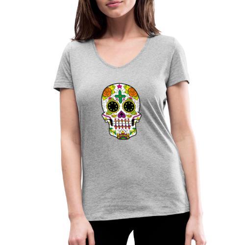 skull4 - T-shirt ecologica da donna con scollo a V di Stanley & Stella
