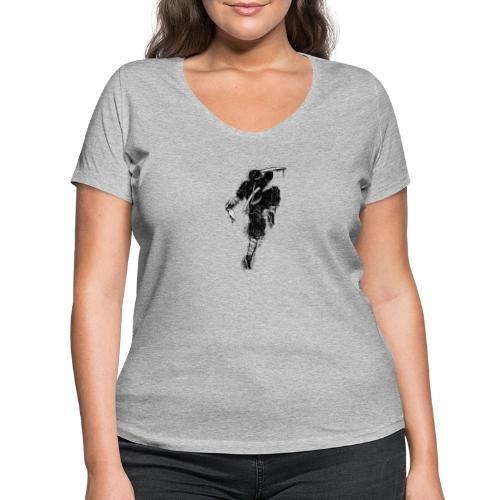 ninja - T-shirt ecologica da donna con scollo a V di Stanley & Stella