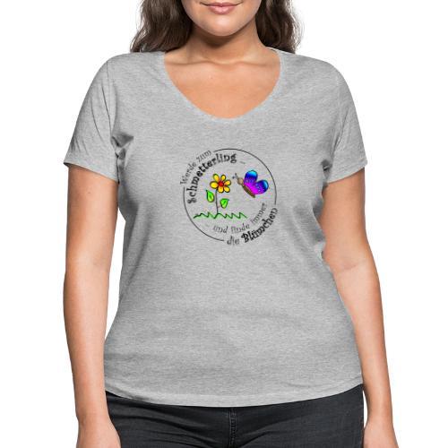 Kollektion - Blume - Frauen Bio-T-Shirt mit V-Ausschnitt von Stanley & Stella