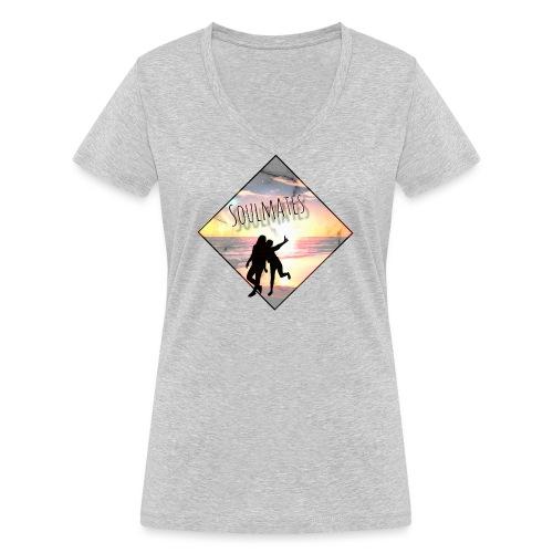 Soulmates - Frauen Bio-T-Shirt mit V-Ausschnitt von Stanley & Stella